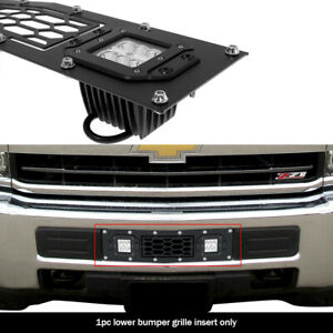 Fits 2015 2019 Chevy Silverado 2500 3500 Bumper Stainless Black Mesh Led Grille