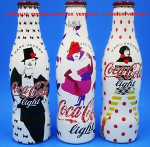 *Benelux COKE LIGHT Marc Jacobs Aluminum Coca Cola 3 Bottle Set I LOVE 80/90/00s