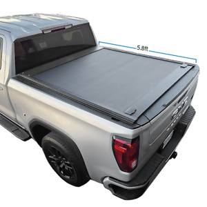 Fit 2014 2018 Silverado sierra 5 8ft Bed Retractable Roll up Hard Tonneau Cover