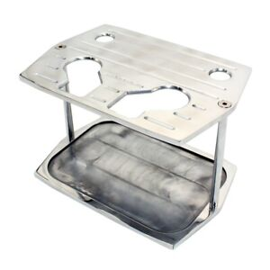 Optima Group 34 78 Ball Milled Aluminum Battery Hold Down Tray Red Yellow Top