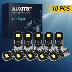 10x Super Bright 158 194 168 175 2825 W5w T10 Led Light Bulb White 6k 12v Canbus