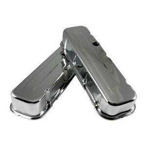 Big Block Chevy 454 Chrome Steel Valve Covers Tall Style Bbc 396 402 427