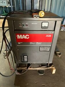 Mac vfc 2000 Forklift Battery Charger 12v model 6m380bxv 1 ph warranty