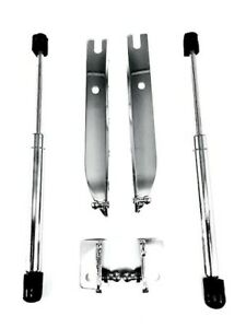 Ford Mustang 2005 2013 Chrome Steel Hood Gas Struts Damper Lift Kit Set Of 2