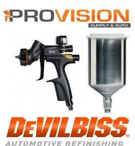 Devilbiss 704520 Dv1 B Clearcoat Digital Gravity Fed 1 2 1 3 1 4 Hvlp Metal Cup