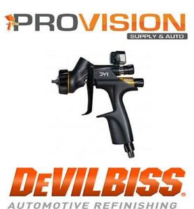 Devilbiss 704520 Dv1 B Clearcoat Digital Gravity Fed 1 2 1 3 1 4 Hvlp Uncupped