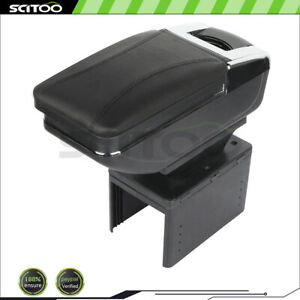 Leather Center Console Car Interior Armrest Storage Box With Base For Ford