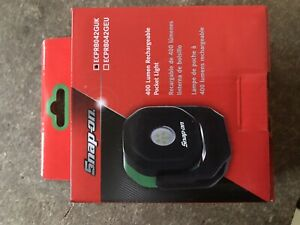 new Snap On 400 Lumen Rechargeable Pocket Light Green