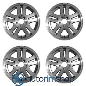 Ford Mustang 2005 2009 Machined With Charcoal 17 Oem Wheels Rims Full Set