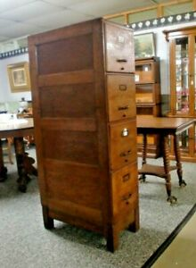 Oak 4 Drawer File Cabinet Weis With Base Panel Sides And Back Monroe Michigan