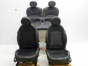 07 14 Mini Cooper R56 R55 Sport Seats Leather Punch Black T8e1