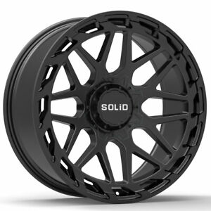 20 Solid Creed Black 20x12 Forged Concave Wheels Rims Fits Toyota Tundra