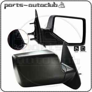 Manual Black Textured Mirrors Pair For 06 11 Ford Ranger Pickup Truck Side View