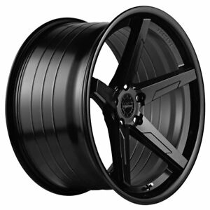 20 Vertini Rfs1 7 Black 20x9 Concave Forged Wheels Rims Fits Acura Tl