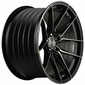 19 Vertini Rfs1 8 Black 19x8 5 19x9 5 Wheels Rims Fits Lexus Ls460 Ls600