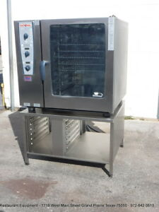 Rational Cmp102 Electric Combination Oven steamer With Stand Year 2012