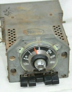 Ford Fairlane Radio 1955 Vintage Car Round Face Plate Bezel Oem Push Button Am