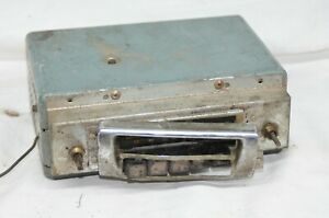 Motorola 596 12 Radio 1955 Vintage Car Face Plate Bezel Oem Push Button Am