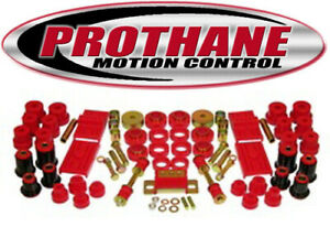 Prothane 7 2030 1980 81 Chevrolet Camaro Complete Suspension Bushing Kit Red