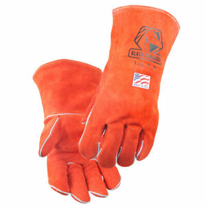 Black Stallion 101a Cowhide Stick Welding Gloves Made In Usa X large