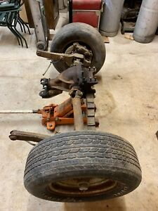 63 77 Corvette Rear End Complete Differential Leave Arms Drive Shaft U Brakes