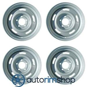 New 15 Replacement Wheels Rims For Chevrolet Corvette 1969 1982 Set Silver