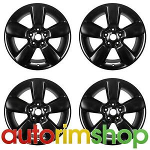 New 20 Replacement Wheels Rims For Dodge Ram 1500 2013 2017 Set Black