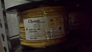 12 Awg Stranded Mtw Wire 500 Foot Spool Yellow