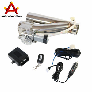 New Electric Exhaust Downpipe Cutout E Cut Out Valve Controller Remote Kit 2 5