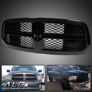 For 2013 2018 Dodge Ram 1500 Glossy Black Mesh Front Bumper Grill Grille Guard