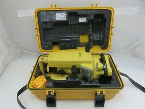 Topcon Dt 104 Digital Theodlite Transit Level With Case