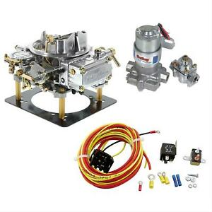 Summit Racing Holley 600 Cfm 4160 E C Carburetor And Electric Fuel Pump Pro Pack