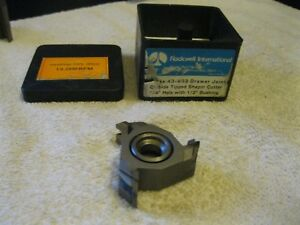 Delta rockwell Shaper Cutter Carbide Tipped 3 4 Bore 43 933 Nos