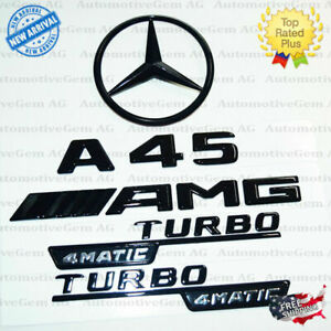 W176 Hatchback A45 Amg Turbo 4matic Rear Star Emblem Black Combo Mercedes