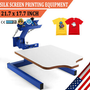 1 Color Screen Printing Equipment Press Kit Machine 1 Station Silk Screening Diy