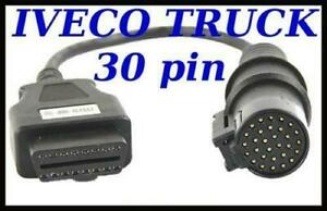 Iveco Truck Diagnostic Cable 30 Pin Connector For Autocom Delphi Wurth Eclipse