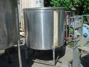 225 Gallon Stainless Steel Tank Dished Bottom Open Top