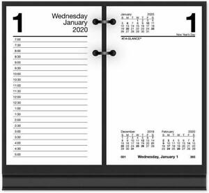 At a glance 2020 Daily Desk Calendar Refill 3 1 2 X 6 Desk Size Loose Leaf