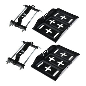 2x Car Storage Battery Tray Holder Adjustable Hold Down Clamp Screw Rod