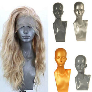 Realistic Female Mannequin Head Display Wig Hat Glasses Necklace Women Model 01