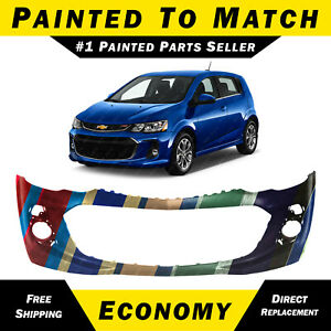 New Painted To Match Front Bumper Cover For 2017 2020 Chevy Sonic Rs Sedan Hatch