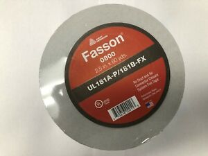 Fasson Aluminum Tape 2 5 X 60 Yds Pack Of 4