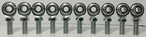 10qty Econ 1 2 X 1 2 20 Male Lh Rod Ends Heim Joints Cml 8 Jam Nut Fast Shipping