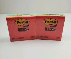 Post it Notes Super Sticky 4in X 4in Lined Pads