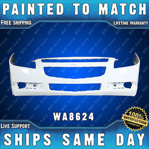 New painted 8624 White Front Bumper Cover For 2008 2012 Chevy Malibu 08 12