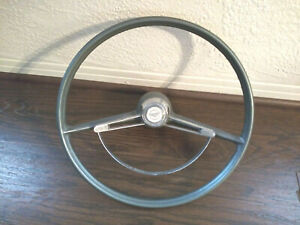 1960 rare Chevy Corvair Steering Wheel W Horn Ring