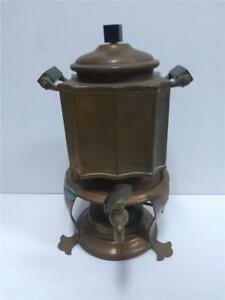 Antique Jos Heinrich Sterling Silver Bronze Coffee Pot Ny Paris Copper