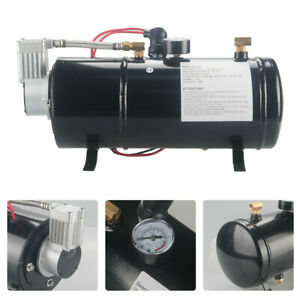 Portable 12v 150psi Metal Truck Air Compressor With 3l Tank For Car Truck Bike