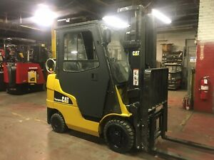 2013 Cat 5000 Lb Forklift With Side Shift And Triple Mast And Heat