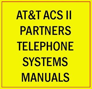 At t Acs Ii Partner Phone System Manual Guide Lucent Avaya Plus Mail Endeavor Cd